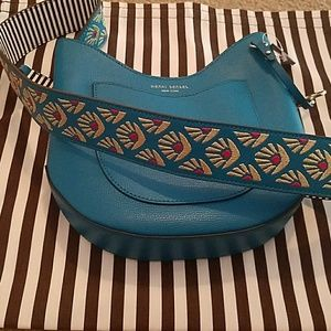 Henri Bendel Mini Crossbody Hobo with Guitar Strap